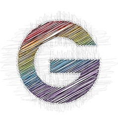 Hand draw font letter g vector