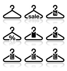 Hanger sale buy 1 get 1 free icons set vector image