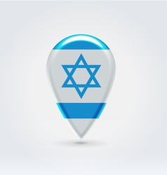 Israel icon point for map vector image vector image