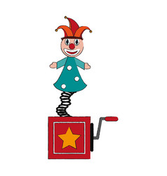 Jack in the box funny toy icon image vector