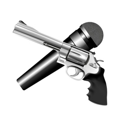 Microphone and revolver vector
