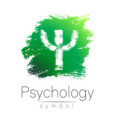 Modern logo of psychology psi creative style vector