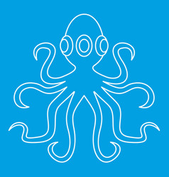 Octopus icon outline vector