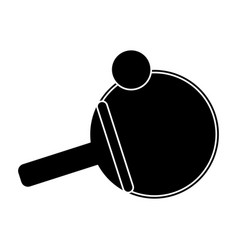 ping pong paddle ball pictogram vector image