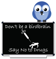 say no to drugs message vector image