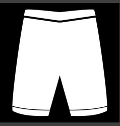 Shorts the white color icon vector