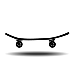 Skateboard flat icon vector image