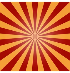 Sun burst background red orange vintage vector
