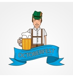 The symbol of the Oktoberfest in Munich Germany vector image