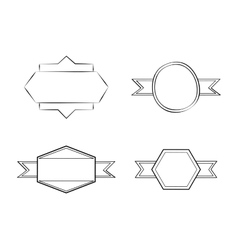 Vintage draw design ornament icon sketch concept vector image vector image