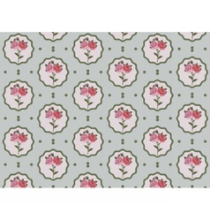 Vintage rose flowers pattern vector