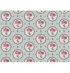 Vintage Rose Flowers pattern vector image vector image