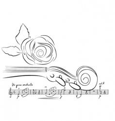 violin lines vector image vector image