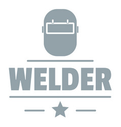 welder mask logo simple gray style vector image