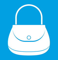 Woman bag icon white vector