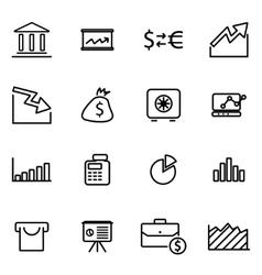line economic icon set vector image