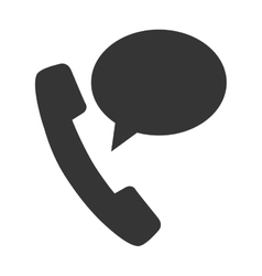 telephone bubble speech design vector image