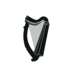 Harp on white background vector