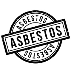 Asbestos rubber stamp vector