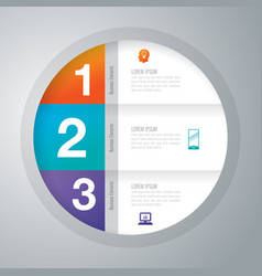 Infographics design with 3 options vector