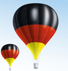 Hot balloons painted as germany flag vector