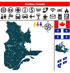 quebec with cities canada vector image