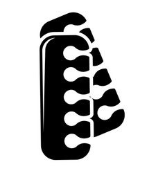 Nail foot tool separator icon simple style vector