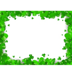 Saint patrick day frame vector
