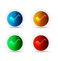 Check Button vector image