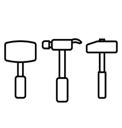Hammer outline vector
