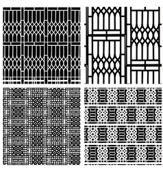 Black and white seamless pattern of curved steel vector