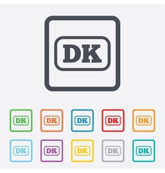 Denmark language sign icon dk translation vector