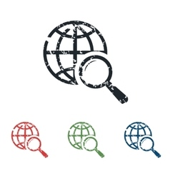 Global search grunge icon set vector