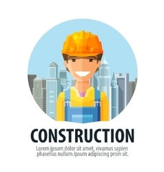 Construction company logo design template vector