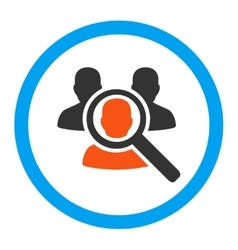 Search patient rounded icon vector