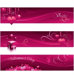 Valentine greeting card banners vector