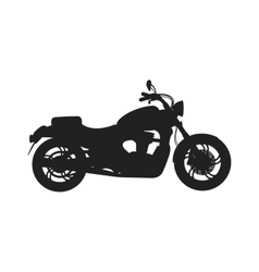 Black classic bike silhouette transport power vector