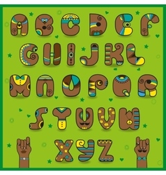 Chocolate artistic font funny brown symbols vector