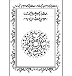 Decorative frame border vector