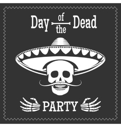 Day of the dead party poster vector