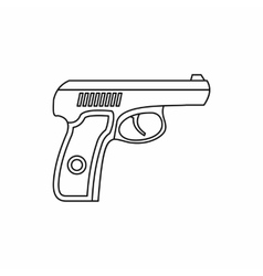 Gun icon in outline style vector