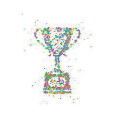abstract trophy cup vector image