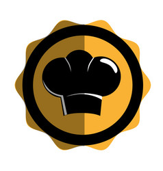 Chef hat silhouette icon vector