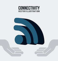 connectivity design vector image