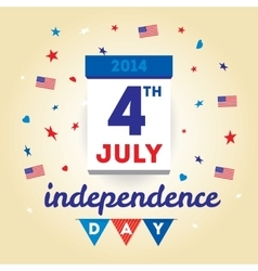 Dreeting card design elements for USA Independence vector image