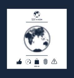 earth - halftone logo vector image vector image