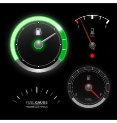Fuel gauge speedometer collection vector