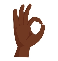 Hands symbol ok vector image