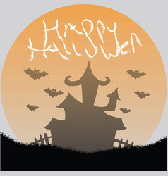 Happy hallowen vector