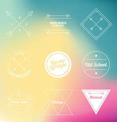 Hipster vintage classic line minimal logo icon vector